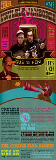 Ukulele Jamboree op 4 December in SPAM starring Gus & Fin!